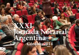 XXXI Jornada Notarial Argentina: temario y presentación de trabajos