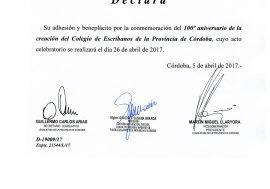 La Provincia, Municipalidad e instituciones académicas adhirieron al Centenario