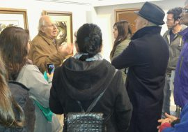 """Alumnos de la UNC visitaron la Galería de Arte """"Enrique Mónaco"""""""