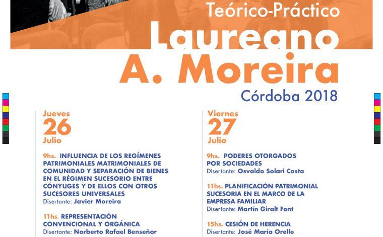 Continúan las inscripciones para el Seminario Teórico-Práctico Laureano A. Moreira a realizarse en Córdoba