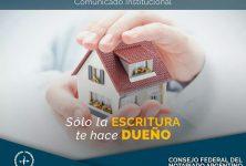 """Compartimos un texto del Presidente del Consejo Federal del Notariado Argentino: """"Sólo la escritura te hace dueño"""""""