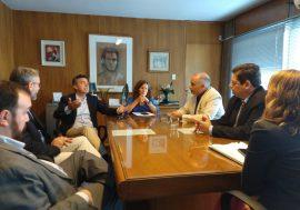Las autoridades se reunieron con sus pares del Consejo Profesional de Ciencias Informáticas