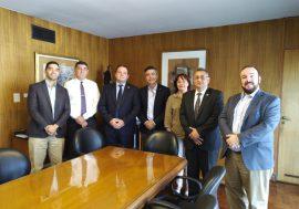 Reunión con directivos del Colegio Profesional de Martilleros y Corredores Públicos