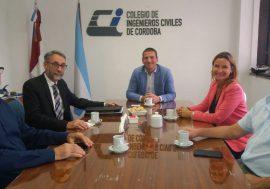 Autoridades de la Institución visitaron a sus pares del Colegio de Ingenieros Civiles