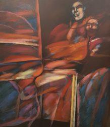 1- Eduardo GIUSIANO - El parque de diversiones - 1982 - Acrílico - 140 x 120 cm. Colección familia Schaffauser