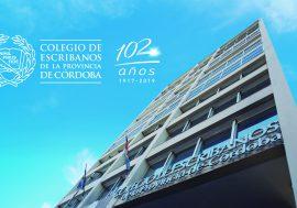 El Colegio de Escribanos cumple 102 años acompañando a los cordobeses