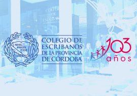 Saludo del Coro del Colegio de Escribanos por los 103° Aniversario