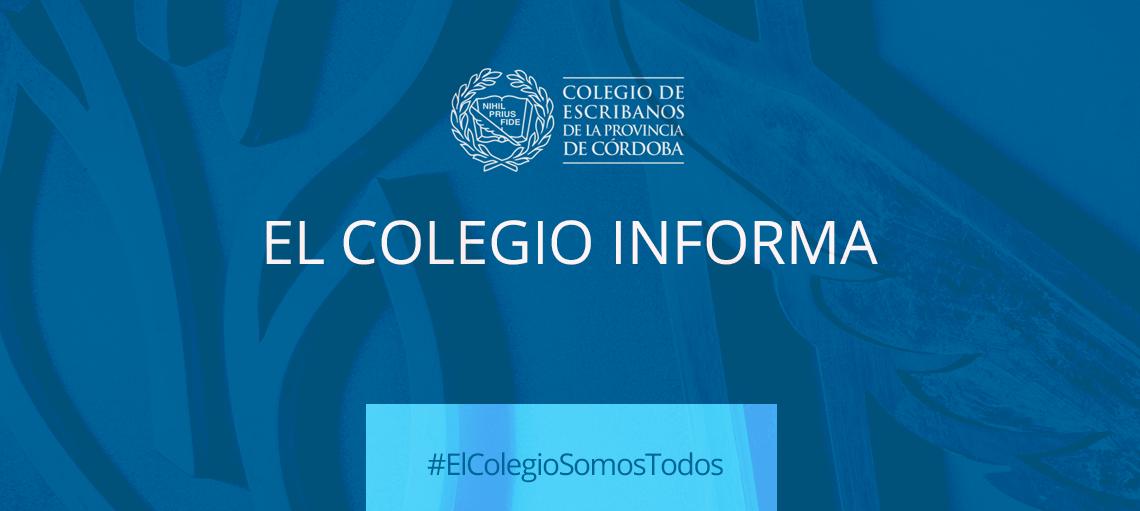 Habilitación de notarios en Gran Córdoba