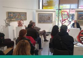 Galería de Arte: Disertación de la Lic. Mirta Garro de Martino en el Colegio de Escribanos de la Provincia de Córdoba